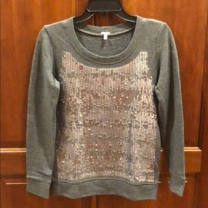New J.Crew Sequin Sweatshirt